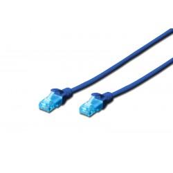 DK-1512-030/B/A-MCUP80030B, Пач кабел Cat.5e 3m UTP син, Assmann