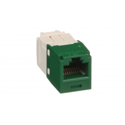 CJ688TGGR, Category 6, RJ45, 8-position, 8-wire universal module. Green.