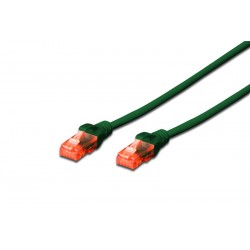 Patch cable Cat.6 5m UTP зелен