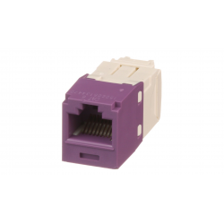CJ688TGVL, Category 6, RJ45, 8-position, 8-wire universal module. Violet.