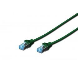 DK-1532-005/G A-MCSSP80005G, Пач кабел  Cat.5e 0.5m SFTP зелен, Assmann