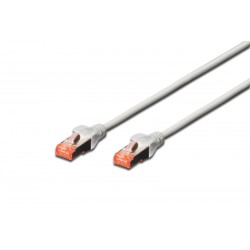 DK-1644-005  / A-MCSSP60005, Пач кабел Cat.6 0.5m SSTP Сив, Assmann