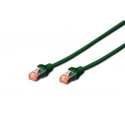 DK-1644-005/G, Пач кабел Cat.6 0.5m SSTP зелен, Assamnn