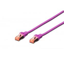 DK-1644-020/VI, Пач кабел Cat.6 2m SFTP виолетов, Assmann