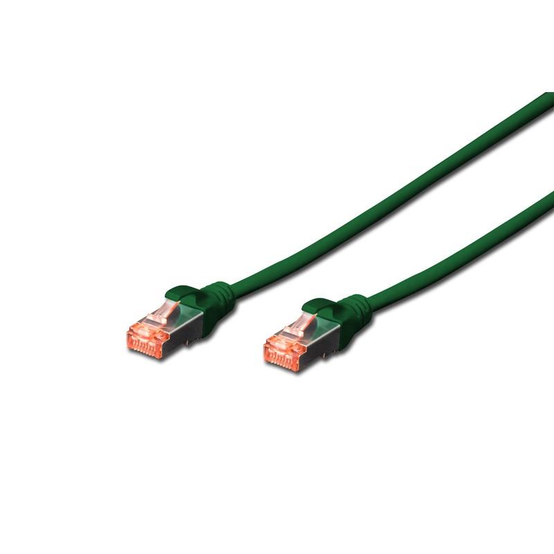 DK-1644-020/G   A-MCSSP60020G, Пач кабел Cat.6 2m SSTP Зелен, Assmann