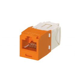 CJ688TGOR, Category 6, RJ45, 8-position, 8-wire universal module. Orange