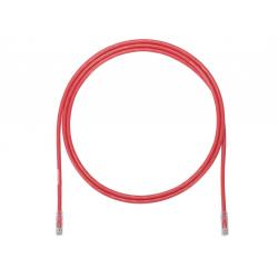 UTP6A2MRD, Пач кабел UTP cat.6A 2м червен, Panduit
