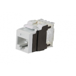 NK6X88MAW, Category 6A, 8-position, 8-wire, keystone punchdown jack modules, artic white