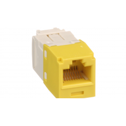 CJ688TGYL, Category 6, RJ45, 8-position, 8-wire universal module. Yellow.