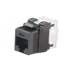 NK6X88MBL, Category 6A, 8-position, 8-wire, keystone punchdown jack modules, black