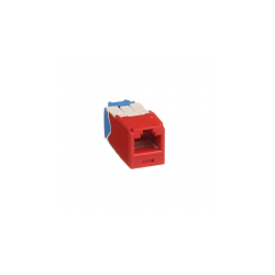 CJ6X88TGRD, Category 6A, RJ45, 10 Gb/s, 8-position, 8-wire universal module, Red