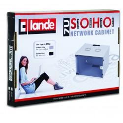 """LN-SH04U5440-BL, LANDE, 4U 19"""" SOHO шкаф 540x400mm черен, Комуникационен шкаф (rack)"""