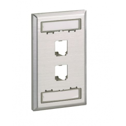 CFPL2SY, Mini-Com® stainless steel single gang faceplate