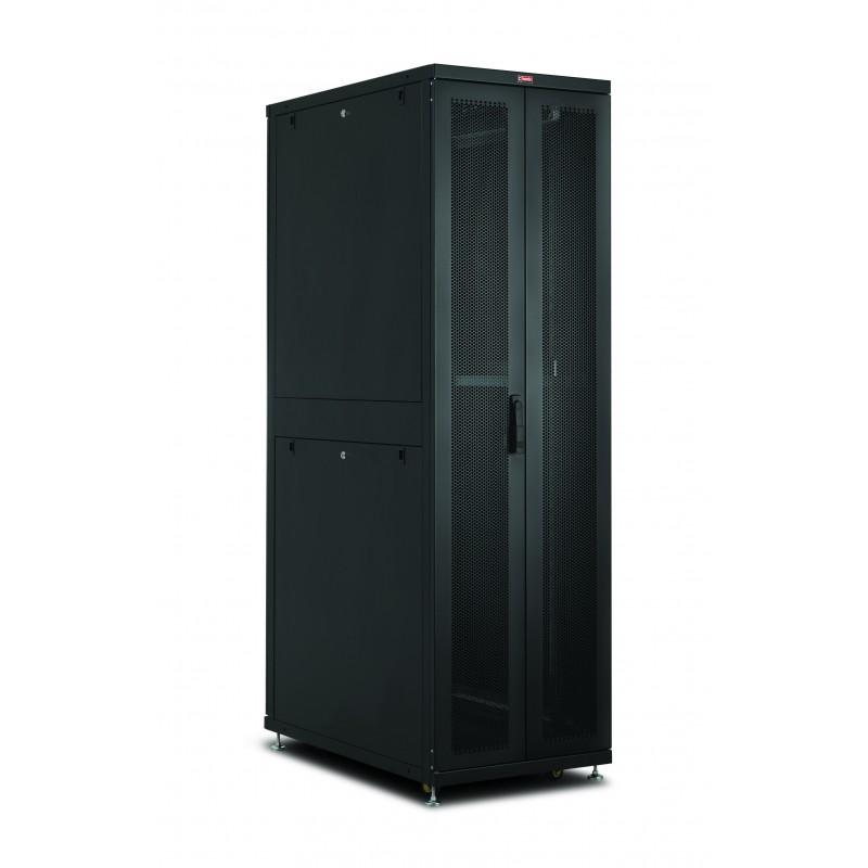 "LN-SR42U6010-BL-241, LANDE, 42U 19"" Server Perf.Doors 600x1000 80%"