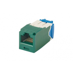 CJ6X88TGGR, Category 6A, RJ45, 10 Gb/s, 8-position, 8-wire universal module, Green
