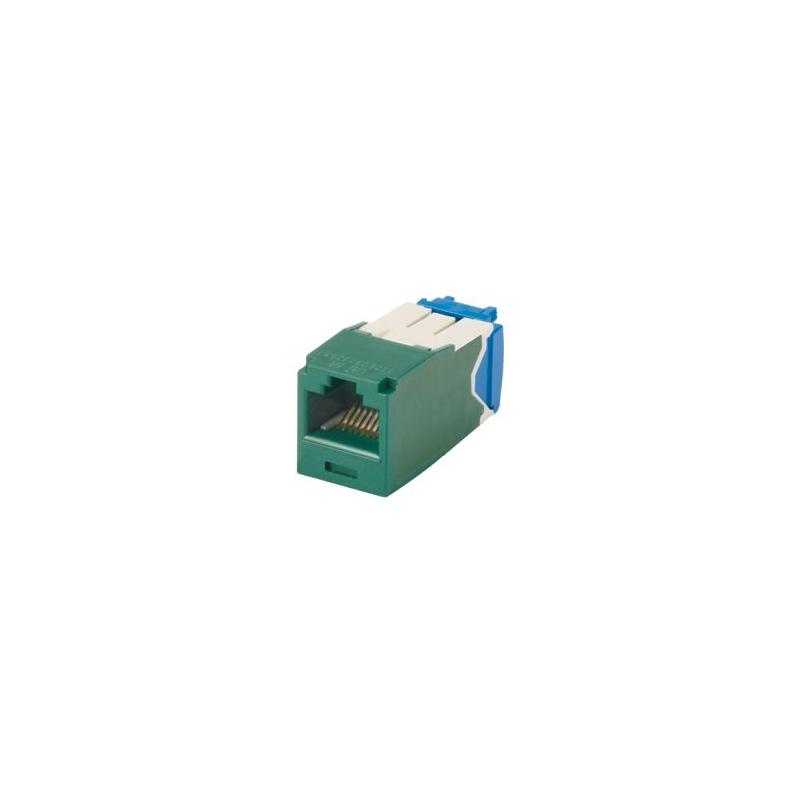 CJ6X88TGGR, Category 6A, RJ45, 10 Gb/s, 8-position, 8-wire universal module, Green