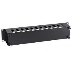 """699999TS.2, 19"""" 2U Аранжиращ панел - тип канал, EFB, черен"""
