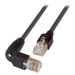 К0993.1, Пач кабел Cat.5e 1m FTP черен 90C, Assmann