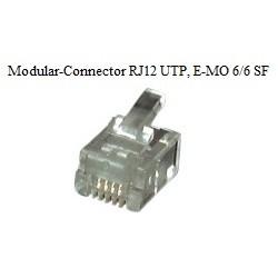37513.1, RJ12 6P6C плъг за плосък кабел
