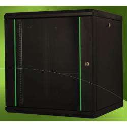 "LN-PR12U6060-BL-111, ProLine 12U 19"" 600x600 стенен комуникационен шкаф, черен"