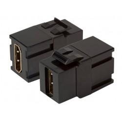 EB520V2, HDMI адаптер keystone черен EFB