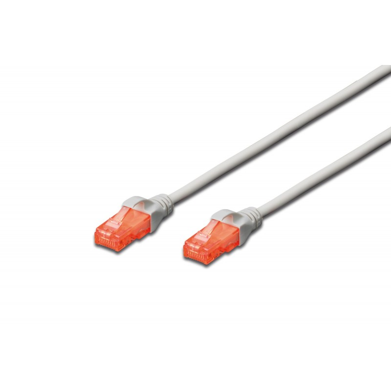 DK-1617-030, Patch cable Cat.6 3m UTP Сив LSZH, Assmann