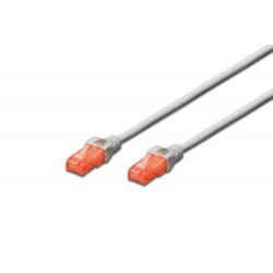 DK-1612-100, Patch cable Cat.6 10m UTP сив, Assmann