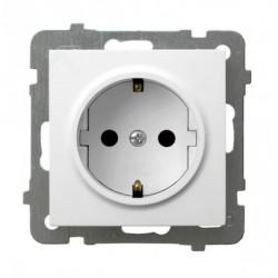 GP-1GS/m/00, Единичен контакт шуко AS, бял
