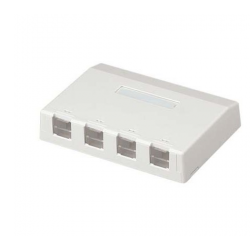 CBXS4AW-AY, Розетка Mini-Com® за повърхностен монтаж за 4 конектора, бяла