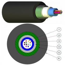 N164.UCPE12B, Опт. кабел 12F SM 9/125 OS2 PE Black, Nexans