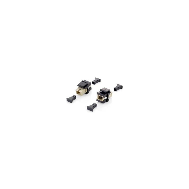 125572, Keystone адаптер SC симплекс ММ, черен