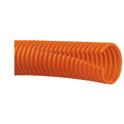 CLT100F-C3, Corrugated loom tubing slit 25.4mm, 30m, orange