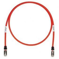 STP6X2MRD, Пач кабел STP Cat.6A 2m червен, Panduit