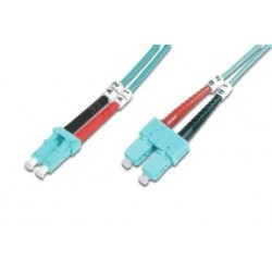TG-OM3LCSC-05L, Оптична корда дуплекс 50/125 LC-SC (OM3), 5m TG
