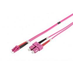 MY-3LCSC-03L, Оптична корда дуплекс 50/125 LC-SC (OM4), 3m MY