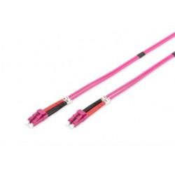 DK-2533-02-4, Оптична корда дуплекс 50/125 LC-LC (OM4), 2m Ass