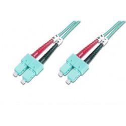 DK-2522-01/3, Оптична корда дуплекс 50/125 SC-SC (OM3), 1m, As