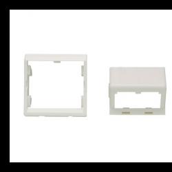 CFPFS2AW, Лицев панел 45x45 Panduit за 2xRJ45 под ъгъл