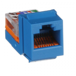 NK5E88MBUY, Category 5e, 8-position, 8-wire, keystone leadframe jack module. Blue.