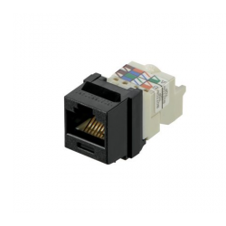 NK6TMBL, Category 6, 8-position, 8-wire Keystone jack module, black.