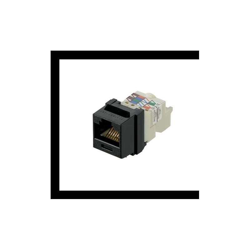 NK6TMBL, Category 6, 8-position, 8-wire Keystone jack module, black.