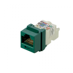NK6TMGR, Category 6, 8-position, 8-wire Keystone jack module, green.
