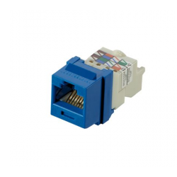 NK6TMBU, Category 6, 8-position, 8-wire Keystone jack module, blue.