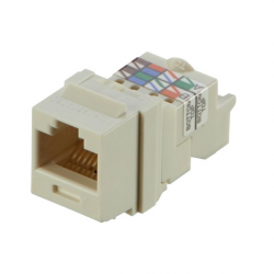 NK6TMIW, Category 6, 8-position, 8-wire Keystone jack module, off white.