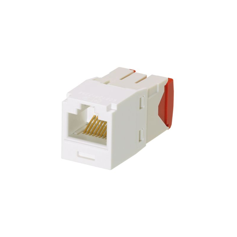CJ5E88TGAW, Category 5e, RJ45, 8-position, 8-wire universal jack module. Arctic White