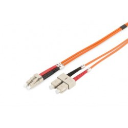 DK-2532-02, Оптична корда дуплекс 50/125 LC-SC 2m, Assmann