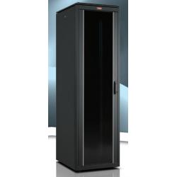 """LN-FS22U6010-BL-111, LANDE, 22U 19"""" FreeStand.Cab. Glass 600x1000 mm"""