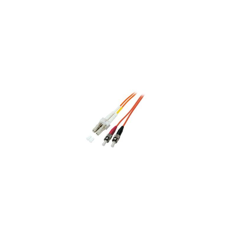 O0321.20, Оптична корда дуплекс 50/125 LC-ST, 20m LSZH EFB