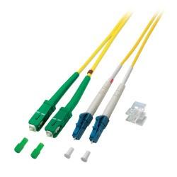 O0362.7,5, Оптична корда дуплекс 9/125 LC-SC/APC LSZH 7,5m