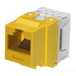 Netkey конектор UTP Cat.6 жълт
